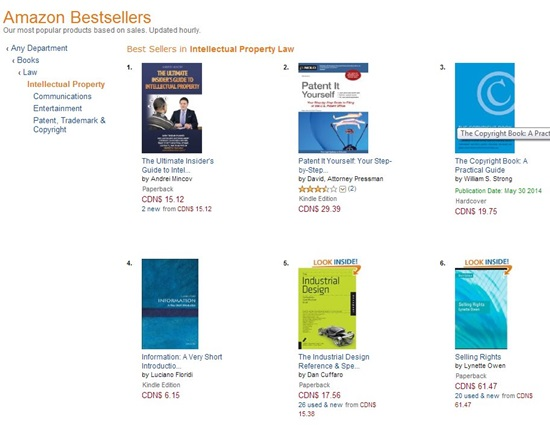 The Ultimate Insider's Guide to Intellectual Property is #1 Amazon Best-Seller in Intellectual Property